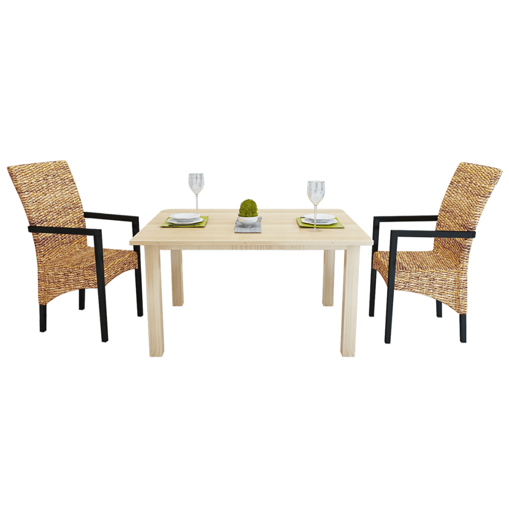 dining chair with armrest high back accent chairs canada 2 pcs handwoven abaca set