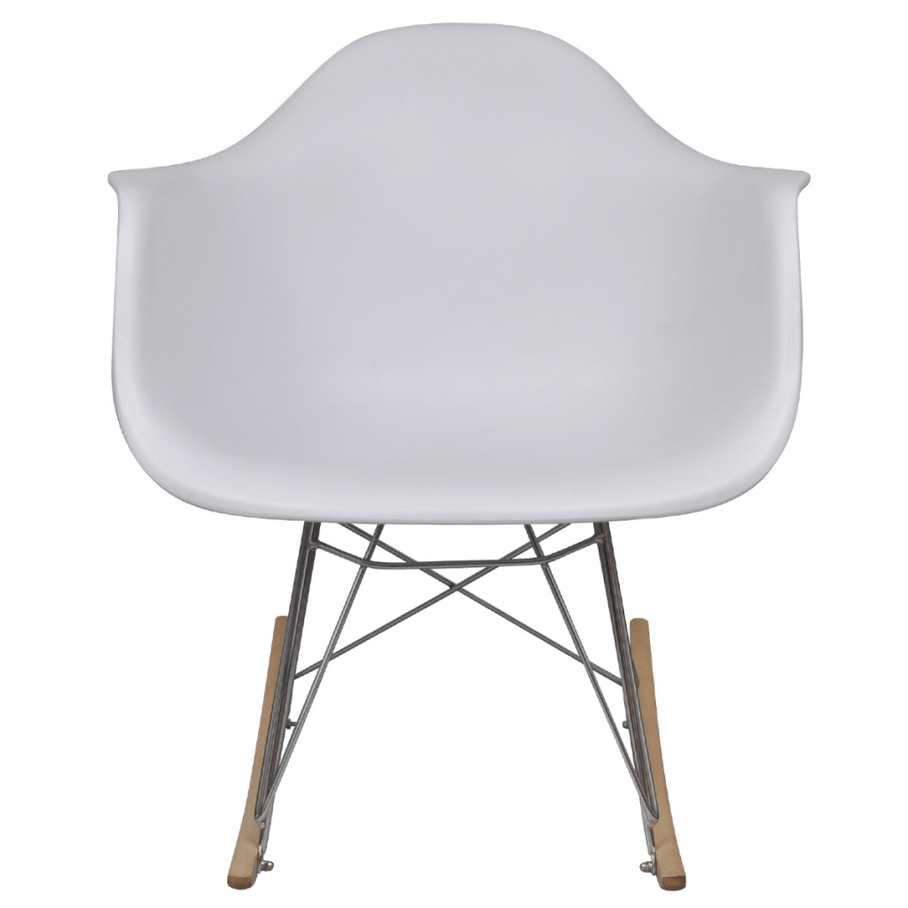 White Metal Chair White White Rocking Chair With Metal Legs Lovdock