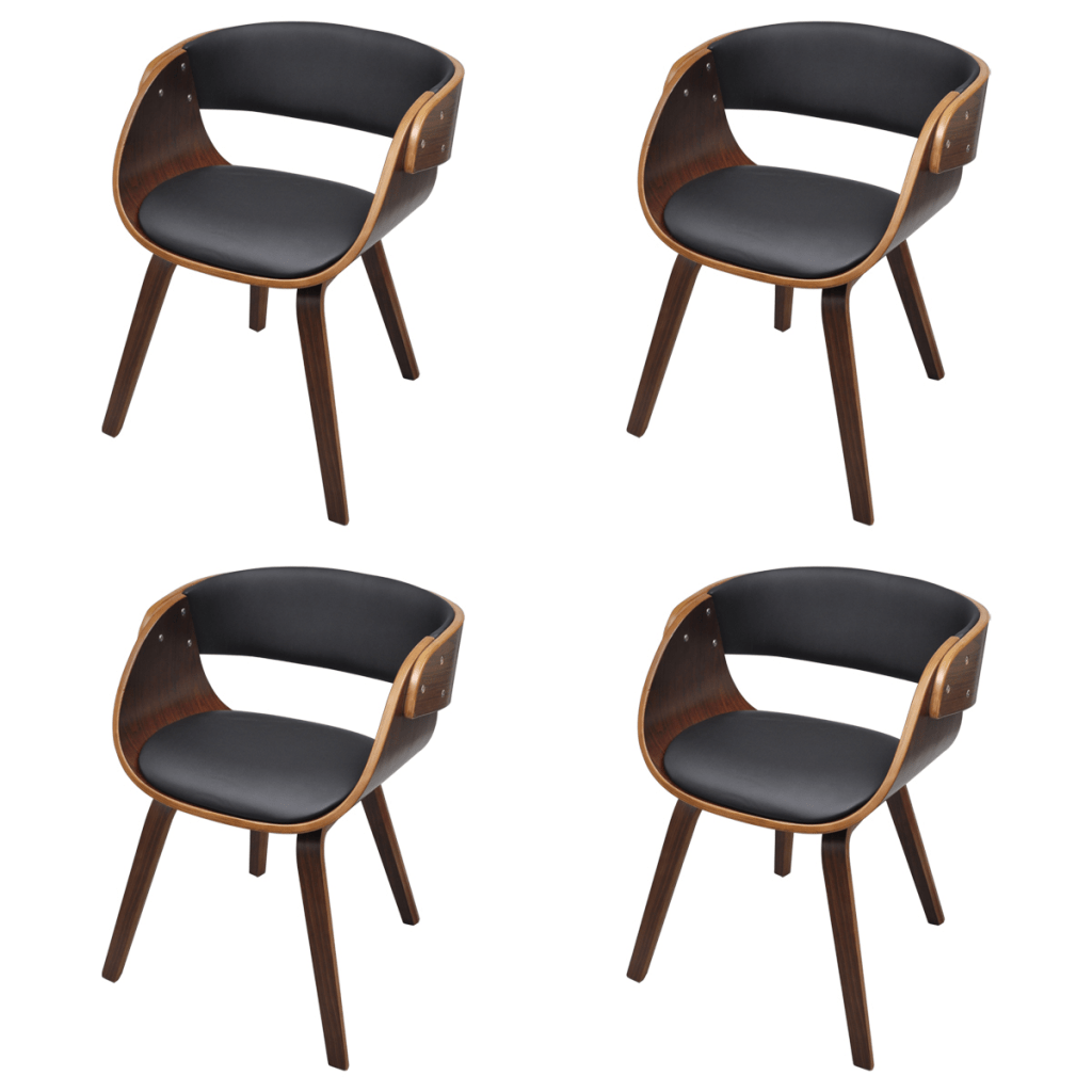 set of 4 dining chairs what is a single sofa chair called with padded bentwood seat lovdock com