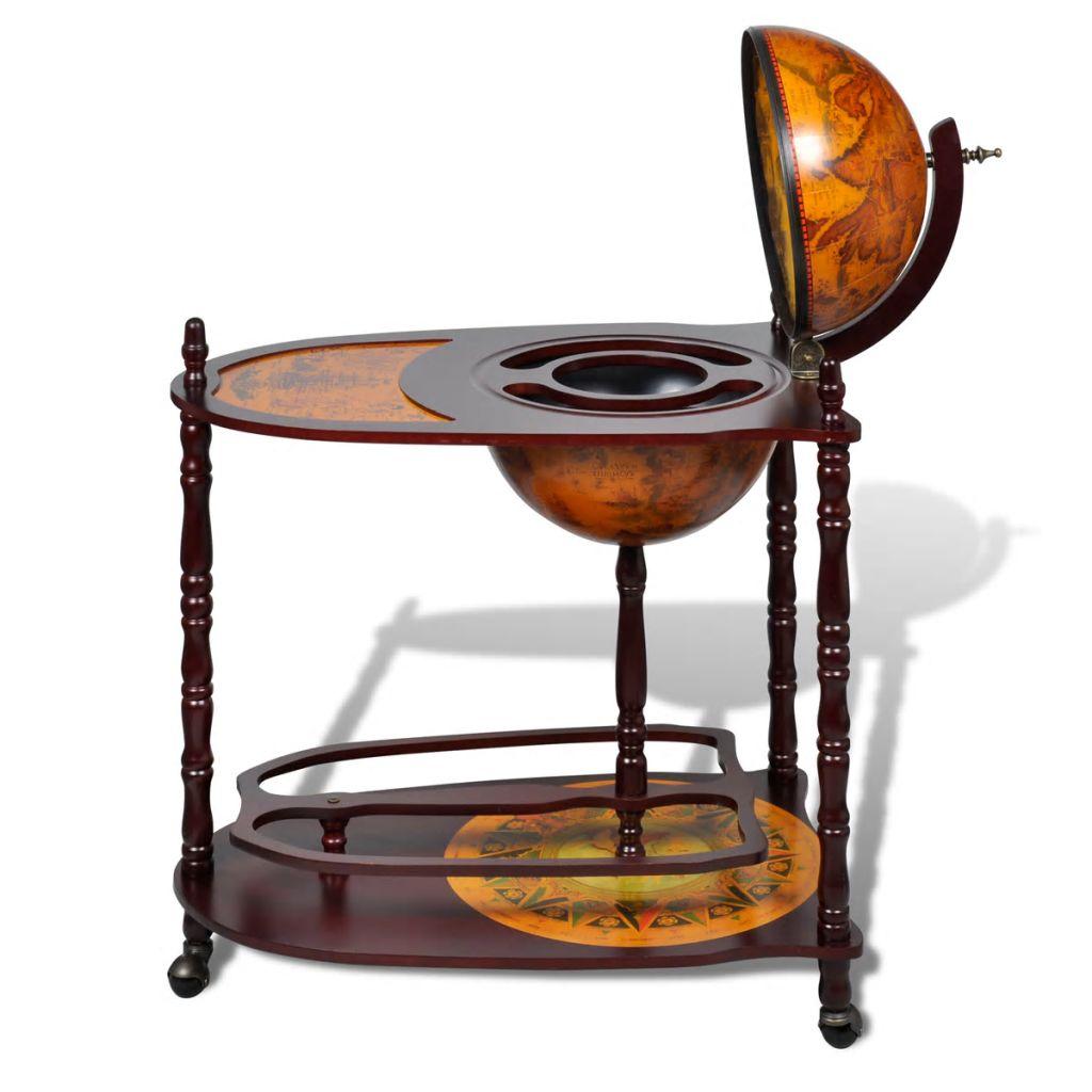 Ds 12999 Table Bar Globe Sur Roulettes Table De Bar