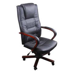 Office Chair Height Big Kahuna Black Artificial Leather