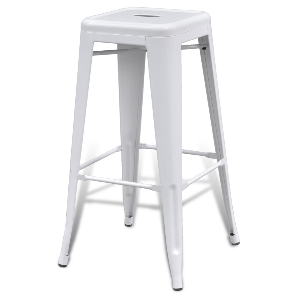 high bar stool chairs double glider chair white stools square 2 pcs lovdock com