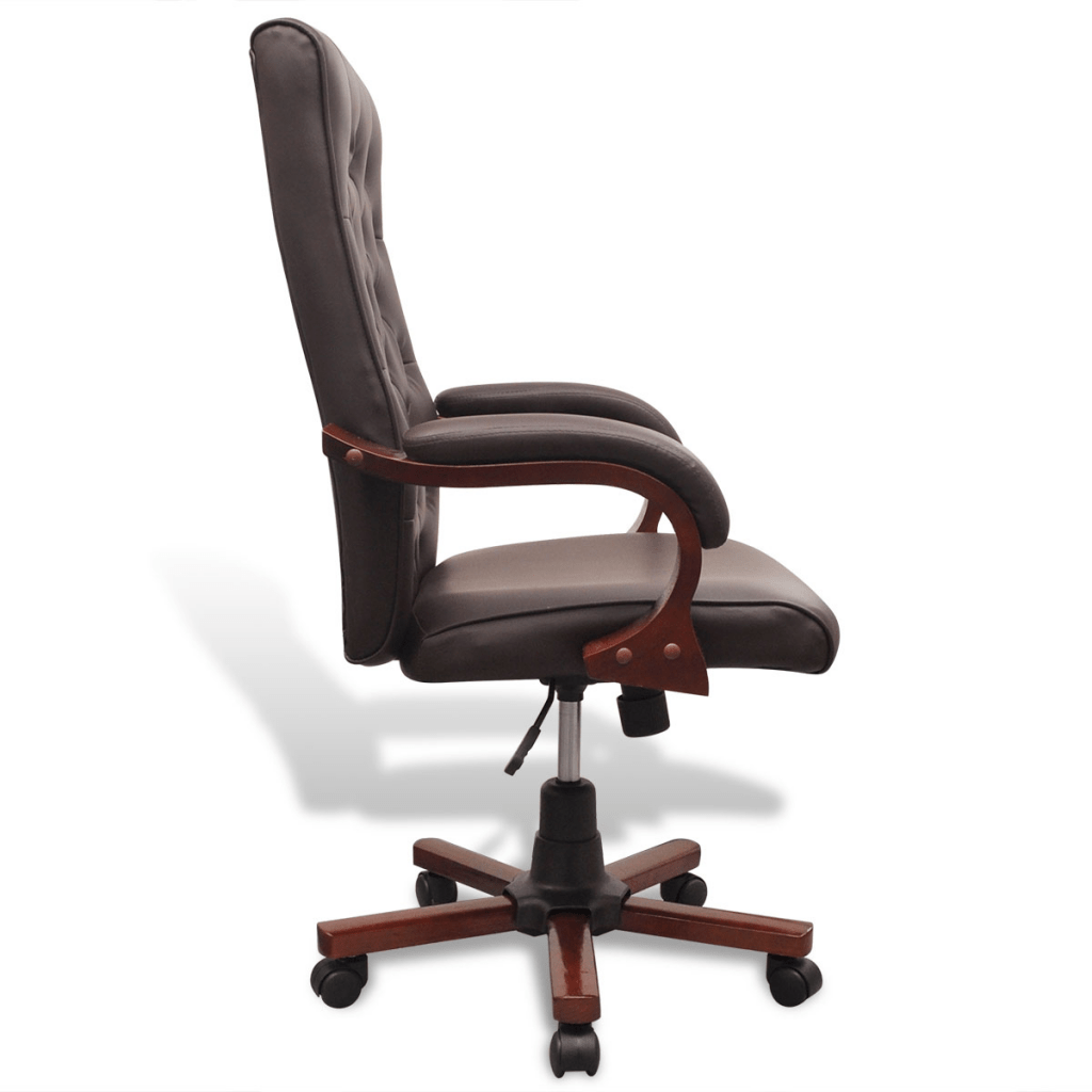 leather office chairs australia glider chair canada brown chesterfield artificial
