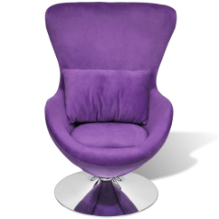 Purple Swivel Chair Aquatec Shower Small Egg With Cushion Lovdock Com