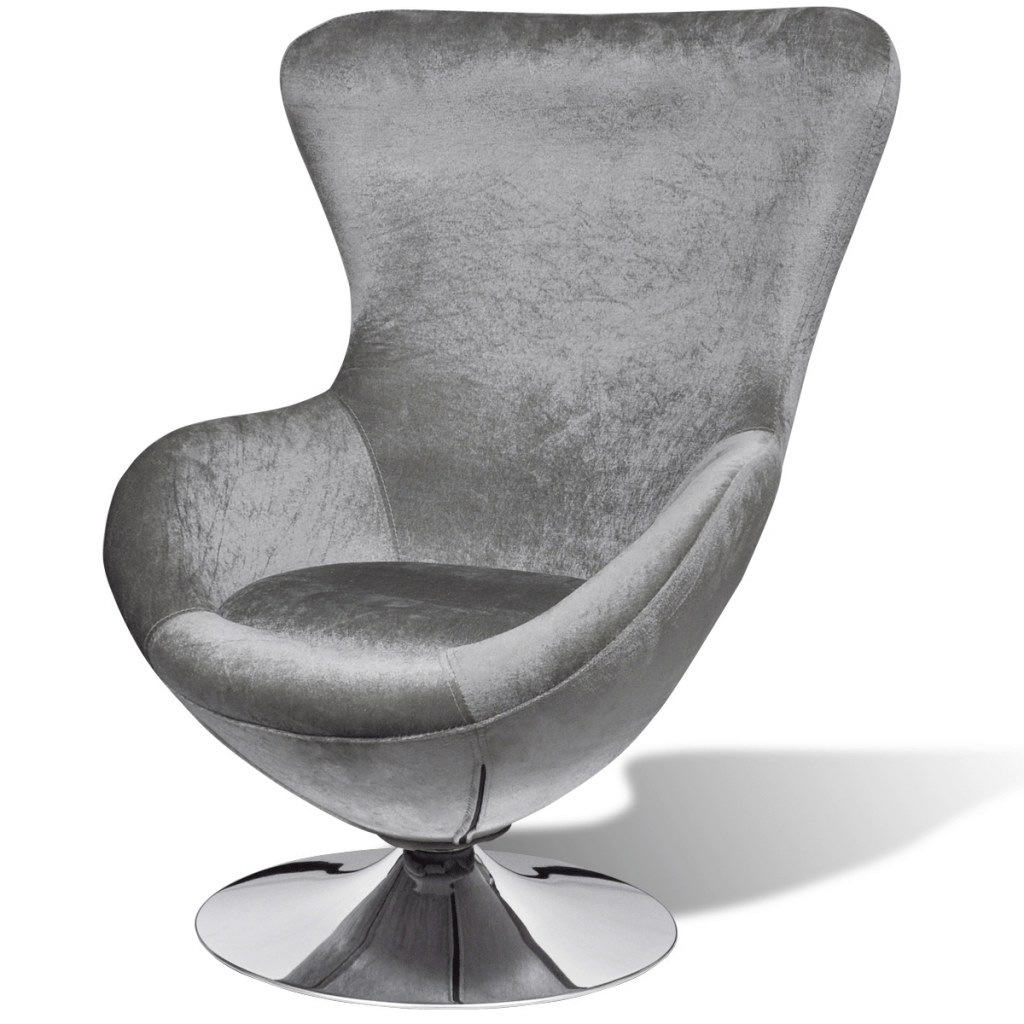 swivel chair egg x rocker rally pedestal gaming review silver small with cushion