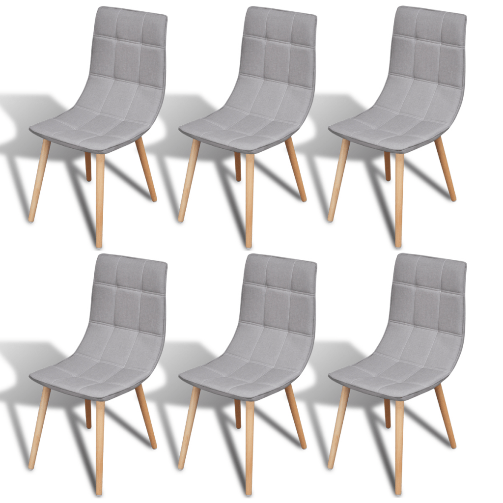 Dining Chair Set Of 6 Gray 6 Pcs Light Grey Dining Chair Set Lovdock