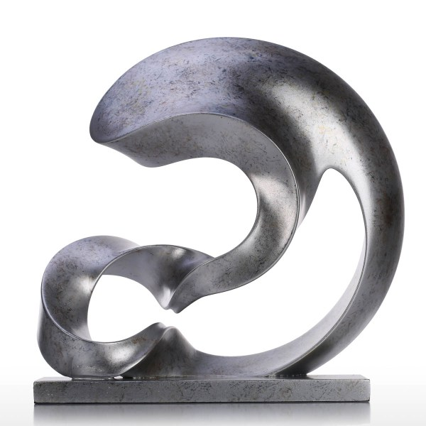 And Cheap Silver Color Spoondrift Modern Sculpture