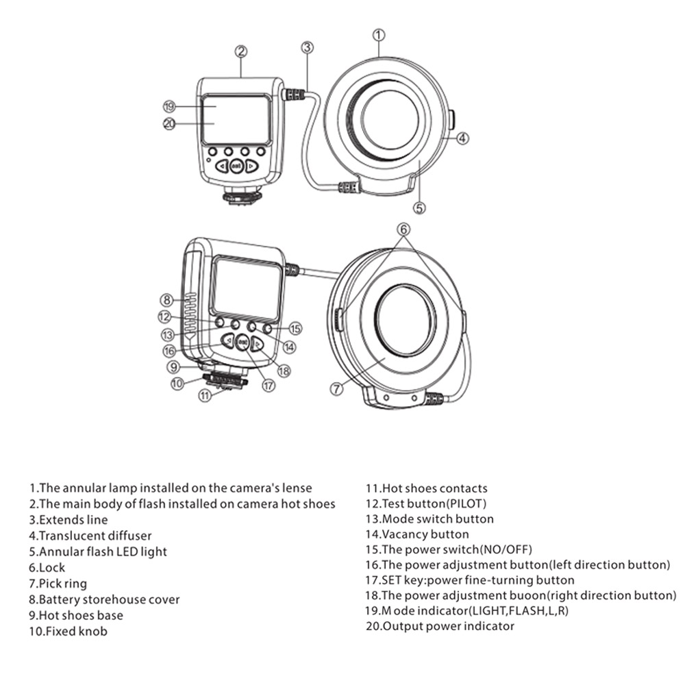 Meike FC-100 Macro Ring Flash/Light LED for Canon EOS 700D
