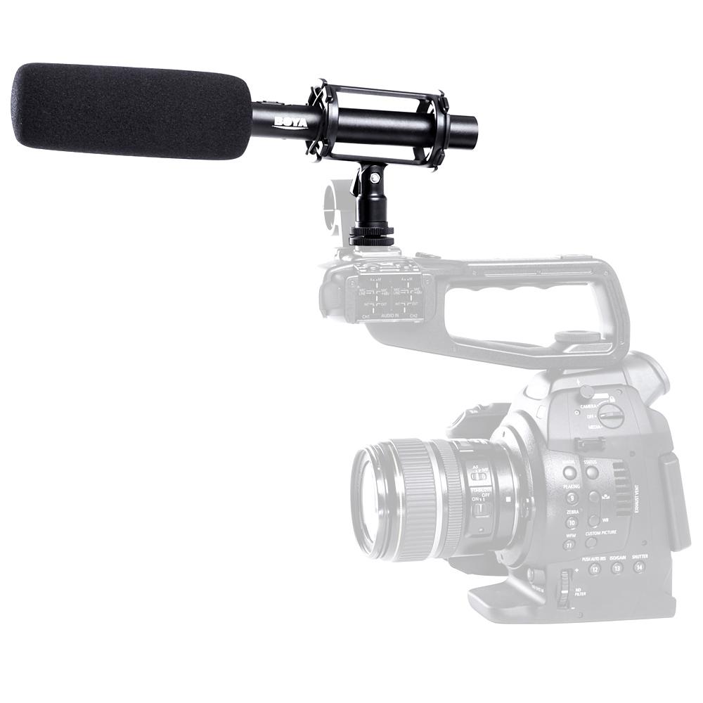 BOYA BY-PVM1000 Condenser Shotgun Microphone 3-pin XLR Output on DSLR Camera Deals - Camfere.com