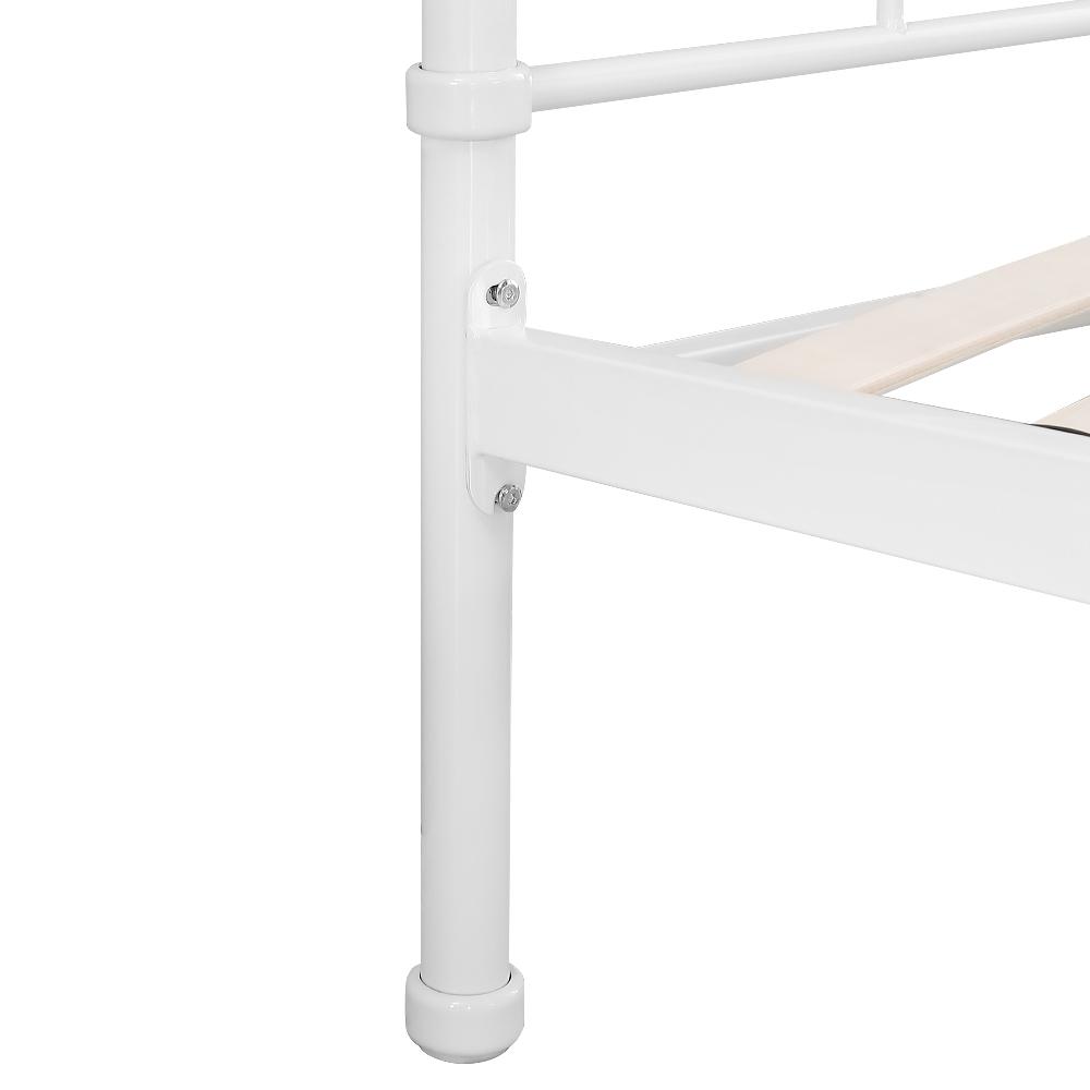 Nur 344.39€, Ikayaa Metall Plattform Bettrahmen Mit Holzleisten