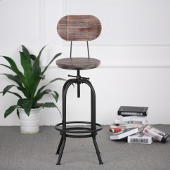 Chair Stools Height Steelcase Reply Wood Ikayaa Bar Stool Adjustable Swivel Kitchen Dining
