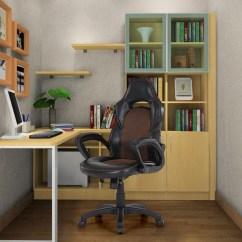 Racing Seat Office Chair Diy The Perfect Sleep Reviews Black Ikayaa Pu Leather Lovdock Com