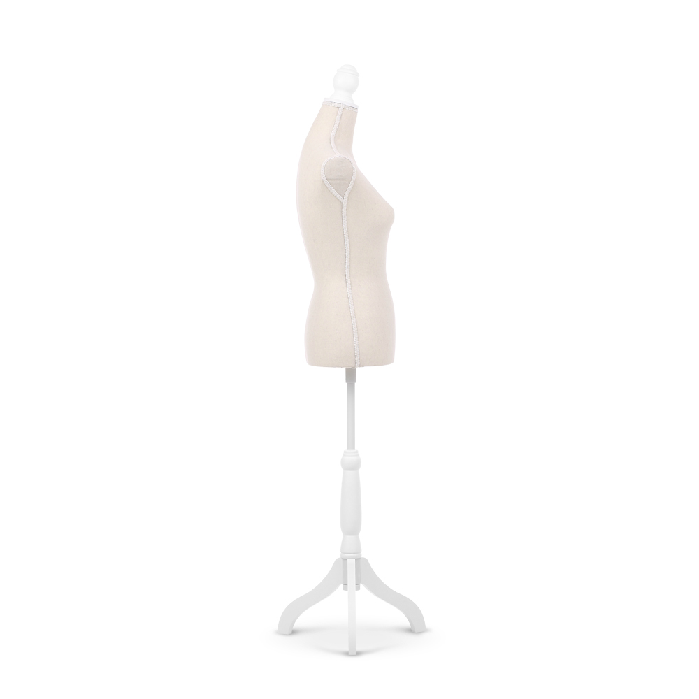 mannequin chair stand easy covers beige ikayaa female torso dress form with wood tripod