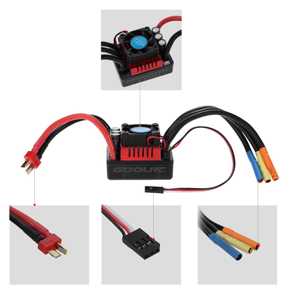 hight resolution of goolrc s3674 2650kv sensorless brushless motor 120a brushless esc rh rcmoment com rc car motor wiring