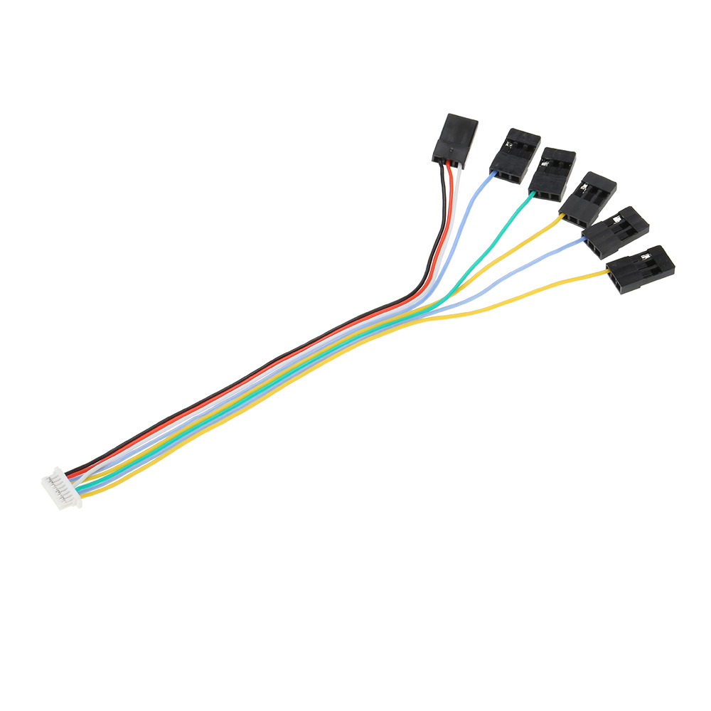 medium resolution of 6 in 1 connecting cable plug with 8 pin play set receiver port for cc3d flight controller