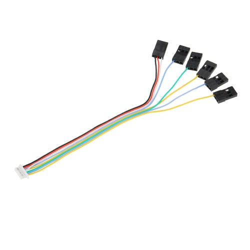 small resolution of 6 in 1 connecting cable plug with 8 pin play set receiver port for cc3d flight controller