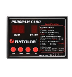 flycolor programing card for rc boats esc electronic speed controller [ 1000 x 1000 Pixel ]