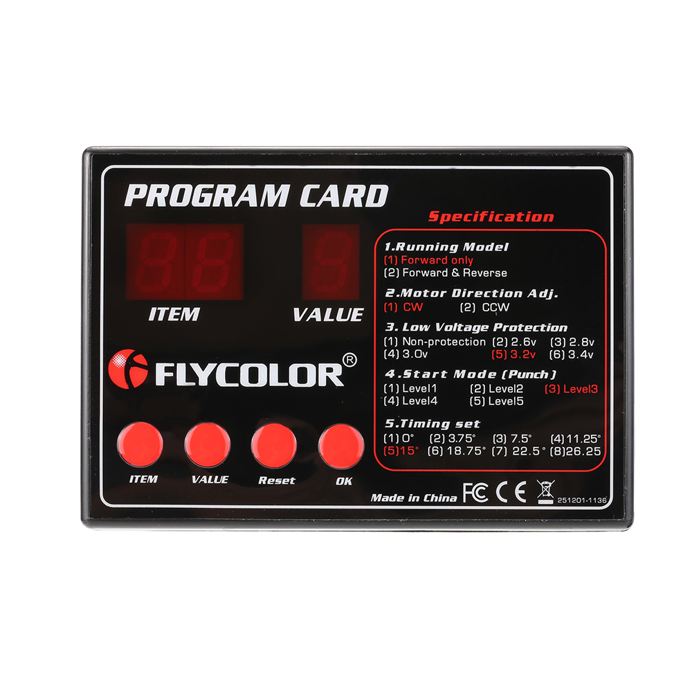 medium resolution of flycolor programing card for rc boats esc electronic speed controller