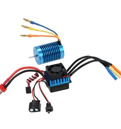 goolrc 3650 4370kv 4p sensorless brushless motor 45a brushless esc for 1 10 off road rc car [ 1000 x 1000 Pixel ]