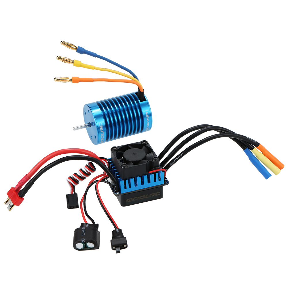 medium resolution of goolrc 3650 4370kv 4p sensorless brushless motor 45a brushless esc for 1 10 off road rc car