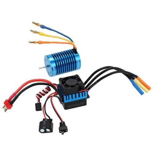 small resolution of goolrc 3650 4370kv 4p sensorless brushless motor 45a brushless esc for 1 10 off road rc car