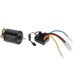 goolrc 540 35t 4 poles brushed motor and wp 1060 rtr 60a waterproof brushed esc electronic speed controller with 5v 2a bec for 1 10 rc car [ 1000 x 1000 Pixel ]