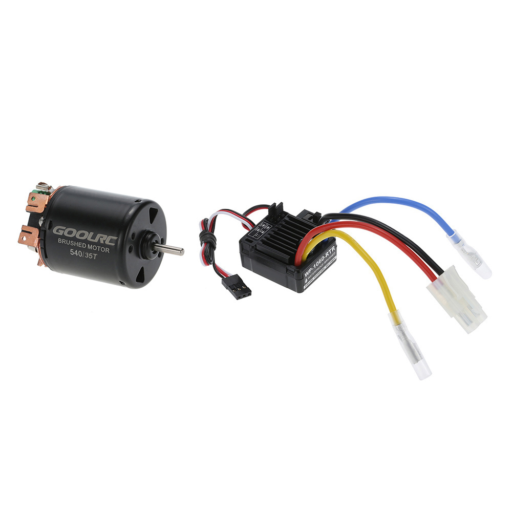 medium resolution of goolrc 540 35t 4 poles brushed motor and wp 1060 rtr 60a waterproof brushed esc electronic speed controller with 5v 2a bec for 1 10 rc car