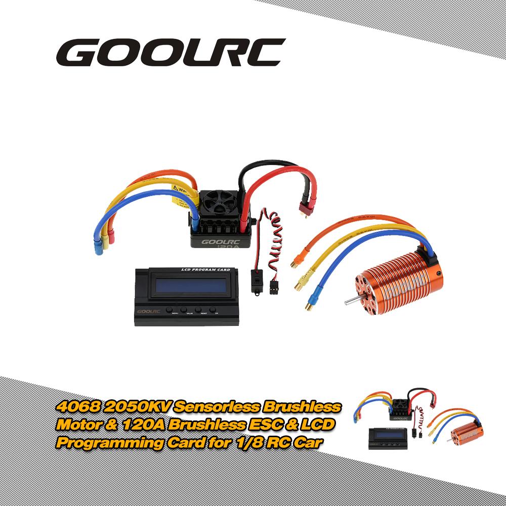 hight resolution of goolrc 4068 2050kv sensorless brushless motor 120a brushless esc with 6v 3a switch mode