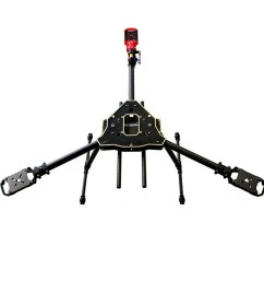 happymodel y600 3 axis tricopter frame kit with servo [ 1000 x 1000 Pixel ]