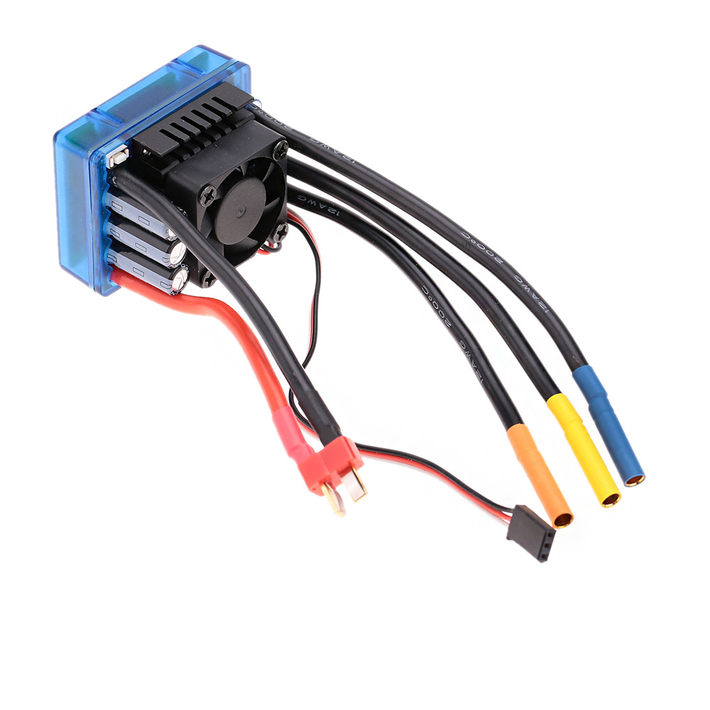 hight resolution of 3674 2250kv 4p sensorless brushless motor with 120a brushless esc electric speed controller for 1 8 rc car truck