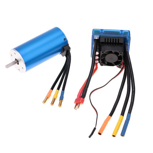 small resolution of 3674 2250kv 4p sensorless brushless motor with 120a brushless esc electric speed controller for 1 8 rc car truck