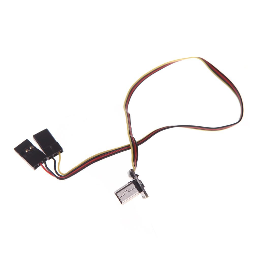 GoolRC USB 90 Degree to AV Video Output & 5V DC Power BEC
