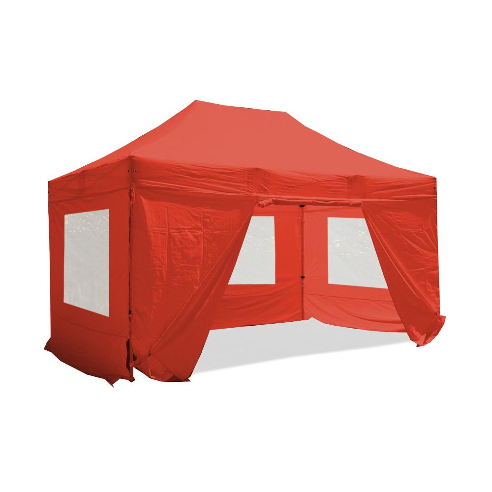 Barnum Pliant 3x4 5m Pack Fenetre Alu 40 Polyester 300g M Pellicule Pvc Rouge A Seulement 547 20 Sur Interouge Com