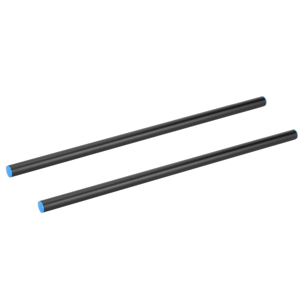 2pcs 40cm Length 15mm Diameter Black Aluminum Alloy Rod