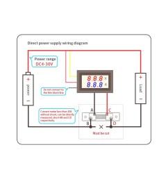 led dc0 100v 10a digital voltmeter ammeter red blue dual color display voltage and ampere meter volt amp gauge panel [ 1000 x 1000 Pixel ]