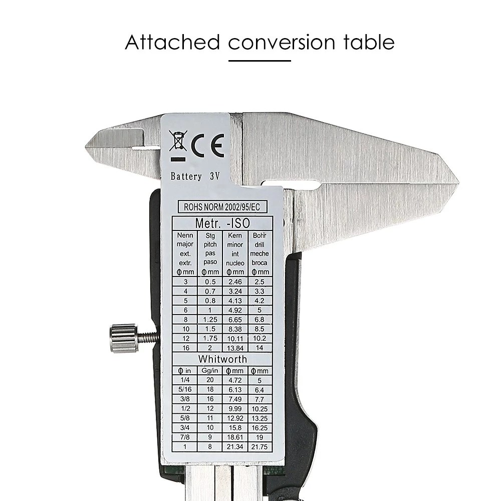 hight resolution of stainless steel digital caliper 150mm scales callipers sales online tomtop