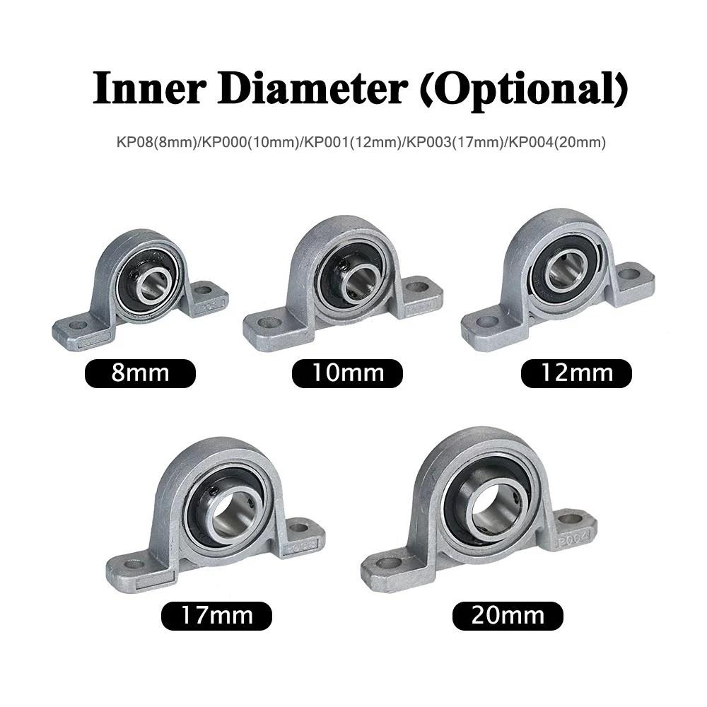 5pcs pillow block bearing inner ball mounted pillow block mounted pillow block bearings miniature bearing of 3d printer bearing bracket with seat