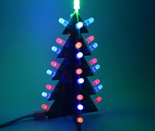 Diy Star Flashing D Led Light Decoration Christmas Tree Electronic Learning Kit Module Switching Different Effect By One Button