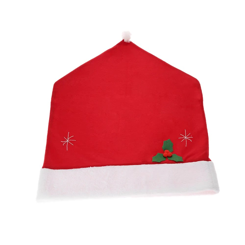 grey christmas chair covers plastic student chairs cute santa claus red hat back cover xmas kitchen dining decoration supply sales online tomtop