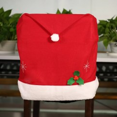 Christmas Chair Back Covers Ireland Upholstered Dining Chairs Target Cute Santa Claus Red Hat Cover Xmas Kitchen Decoration Supply Sales Online Tomtop