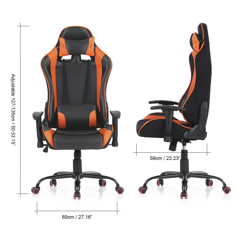 Racing Seat Office Chair Ikayaa Ergonomic Racing Style Gaming Office Chair Swivel Executive Computer Chair Bucket Seat W Recline Height Armrest Adjustable Tilt Function