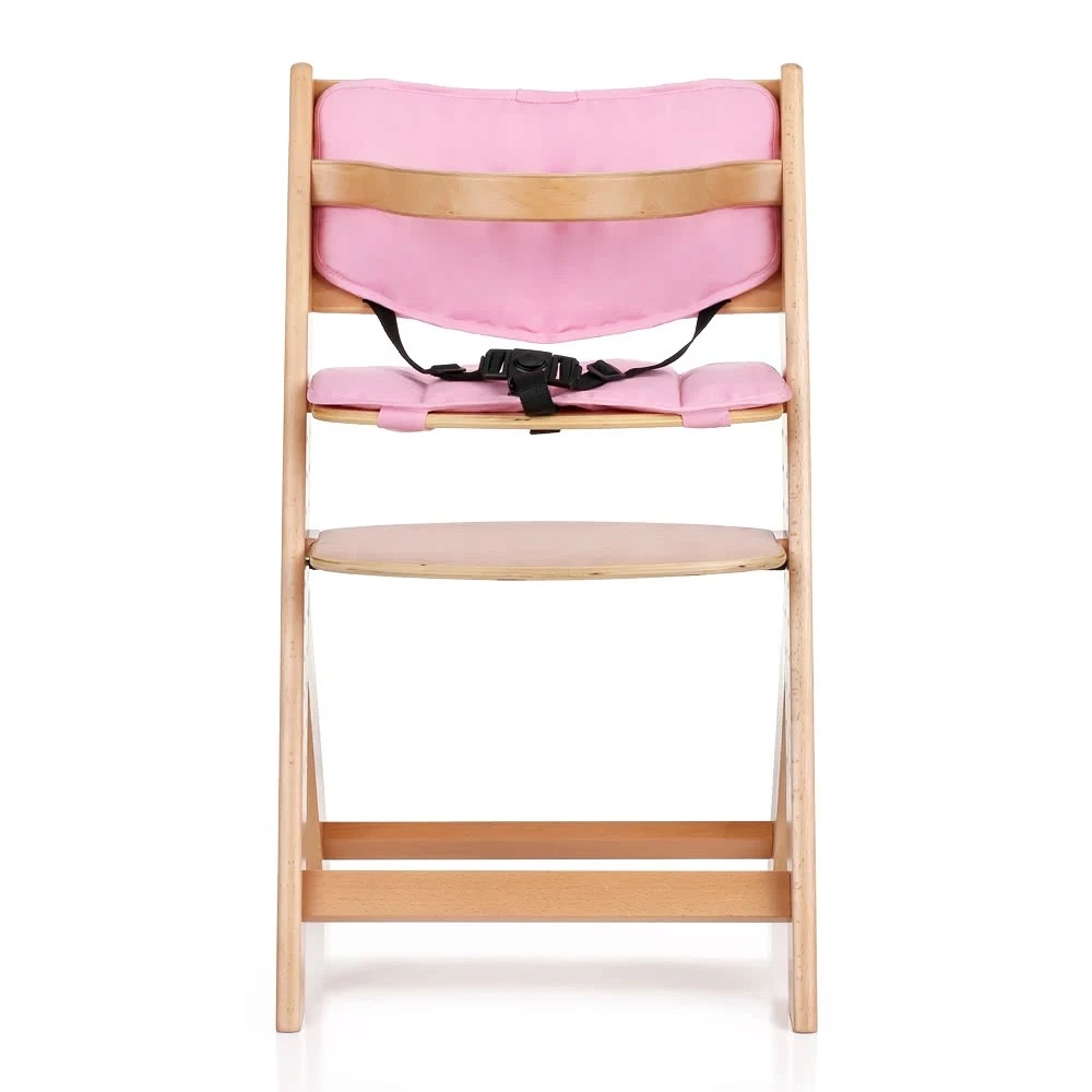 height adjustable high chair baby ergonomic good posture ikayaa toddler wooden with cushion beech wood highchairs for kids infant feeding dining sales online us tomtop