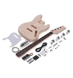 jazz bass style 4 string electric bass diy kit for sale us 74 99 tomtop [ 1000 x 1000 Pixel ]