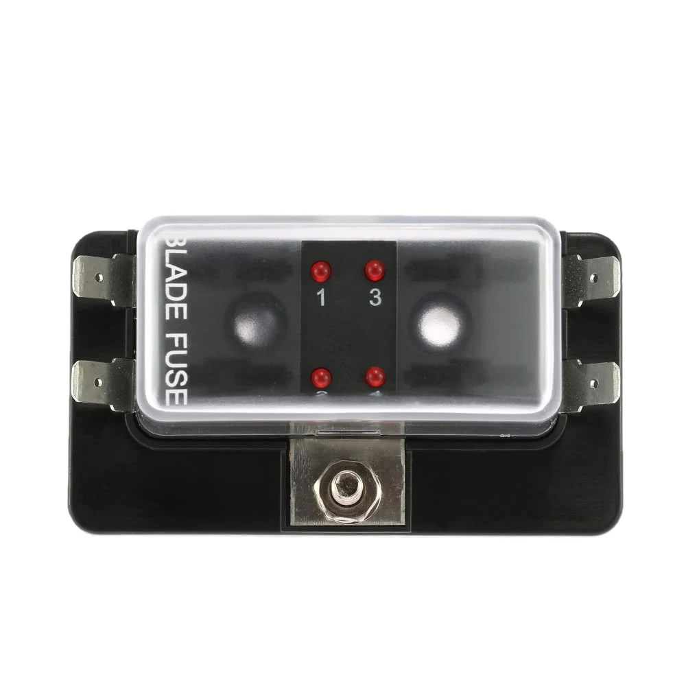 hight resolution of 4 way blade fuse box holder with led warning light kit for marine fuse holder marine