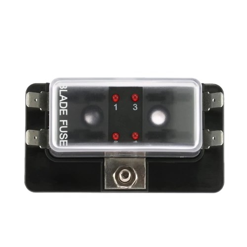 small resolution of 4 way blade fuse box holder with led warning light kit for marine fuse holder marine
