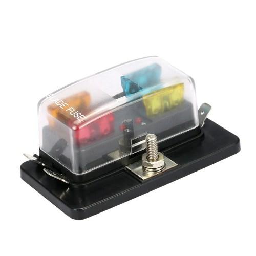 small resolution of 4 way blade fuse box holder with led warning light kit for car boat marine trike 12v 24v