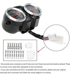 motorcycle backlight odometer digital speedometer tachometer gauge for suzuki gn125 series [ 1000 x 1000 Pixel ]