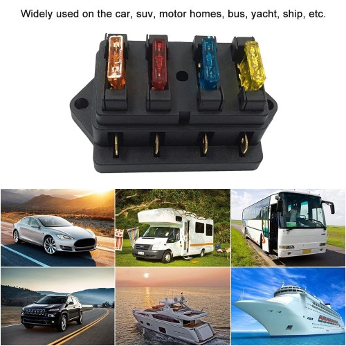 small resolution of way fuse holder box car vehicle automotive circuit blade fuse block with standard fuses