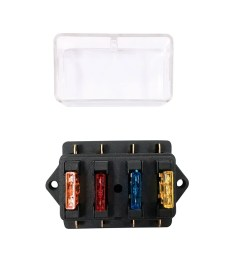 way fuse holder box car vehicle automotive circuit blade fuse block with standard fuses [ 1000 x 1000 Pixel ]