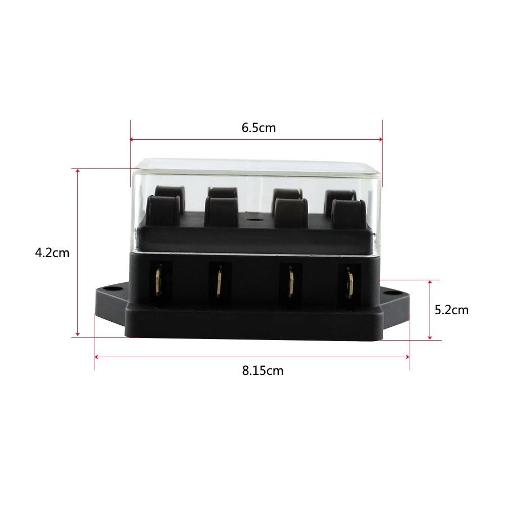 medium resolution of way fuse holder box car vehicle automotive circuit blade fuse block with standard fuses